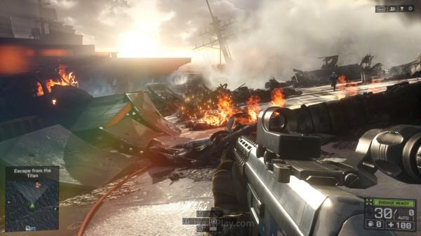Berada di daerah musuh, harapan satu-satunya Valkyrie adalah bergabung dengan kapal induk - U.S.S Titan. Yang ternyata, sudah hancur berantakan.
