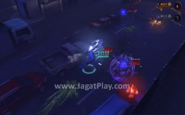 Kinetic Strike, salah satu kemampuan dari MEC yang bisa membantu pemain memenangkan pertempuran.