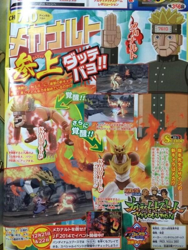 Karakter original yang dijanjikan di Ultimate Storm Revolution? Percaya atau tidak, sebuah mecha Naruto, dalam tiga mode.