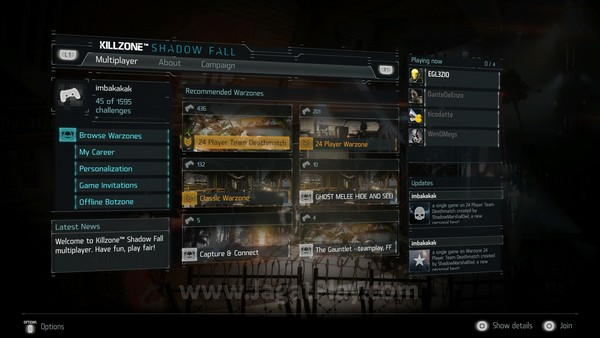 Seperti sebagian besar game FPS yang meluncur di pasaran, Killzone: Shadow Fall juga hadir dengan mode multiplayer.