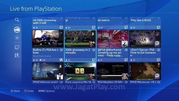 Berlaku sebaliknya, Anda juga bisa melihat siaran live gaming dari user yang lain lewat sebuah tampilan sederhana.