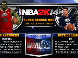 nba 2k14 superheroes mod avengers justice league marvel dc