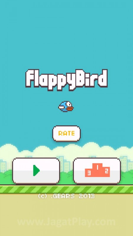 Sebuah burung yang tidak bisa terbang stabil, namun bersikeras bergerak melewati serangkaian rintangan sulit? inilah ini Flappy Bird.