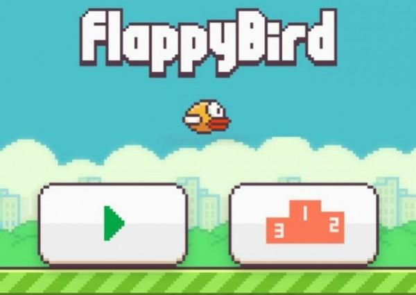 flappy bird title screen