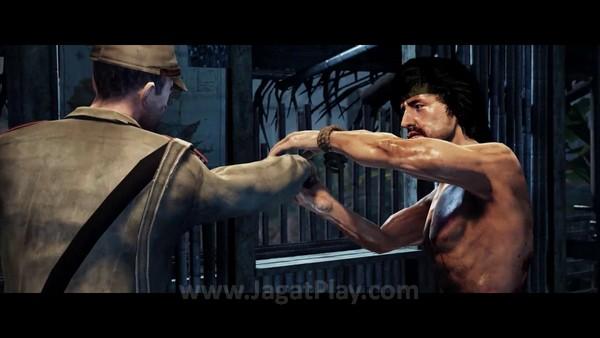 Anda akan berkesempatan melihat rekonstruksi momen ikonik Rambo: First Blood, First Blood II, dan Rambo III dalam model tiga dimensi.