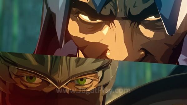 Yaiba kalah dan hampir meregang nyawa. Pedang Ryu menuntut mata dan tangan kirinya.