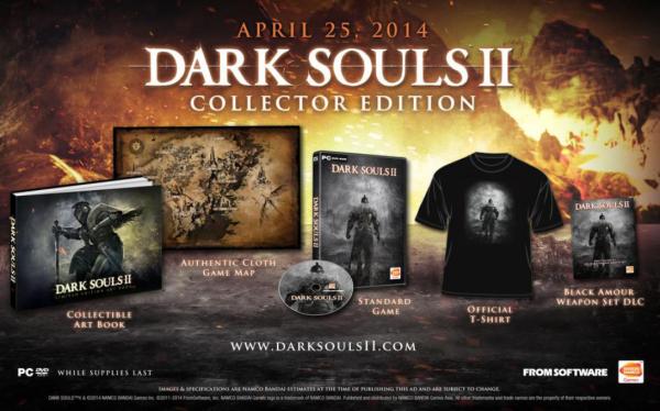 Iklan yang muncul di situs gaming - Siliconera inilah yang memicu rumor rilis Dark Souls 2 versi PC pada tanggal 25 April  2014 mendatang. Baik From Software maupun Bandai Namco masih menolak untuk memberikan konfirmasi apapun.