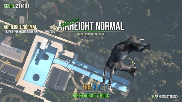 Untuk memberikan sedikit sensasi tujuan, Goat Simulator juga memberikan varian misi yang bisa Anda selesaikan dengan melakukan stunt-stunt gila.