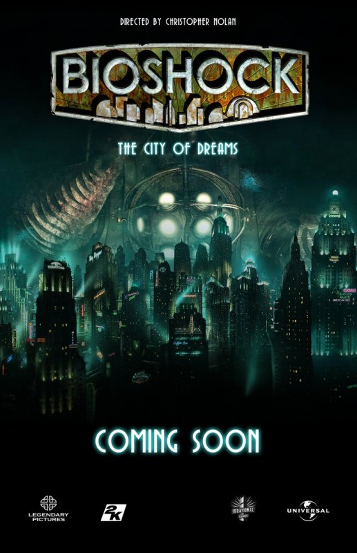 Tidak lagi sebatas poster fan-art seperti ini, mimpi untuk melihat film adaptasi Bioshock di masa depan terbuka lagi setelah Sony mendaftarkan beberapa domain yang mengindikasikan hal tersebut.
