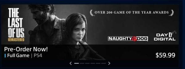 Dari informasi yang sempat bocor di PS Store sebelumnya, besar kemungkinan The  Last of Us Remastered ini akan ditawarkan dengan harga penuh sebuah game AAA baru.