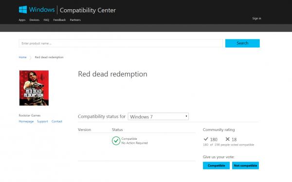 Halaman Compatibility Windows inilah yang kembali memicu rumor soal proses port Red Dead Redemption untuk PC. Baik Rockstar maupun Microsoft sendiri belum memberikan konfirmasi apapun soal hal ini.