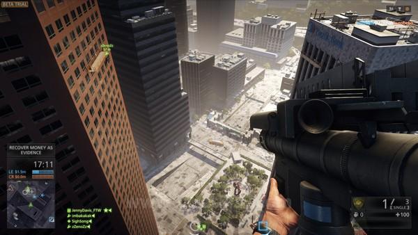 Satu-satunya map yang ditawarkan oleh masa beta ini adalah High Tension - sebuah map pertempuran dalam kota yang cukup besar.