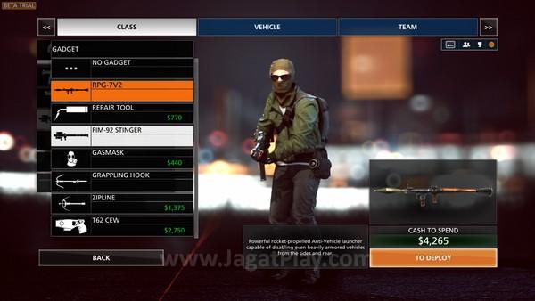 Bedanya? Untuk mengakses senjata atau perlengkapan tertentu, Anda kini harus membelinya dengan uang cash yang didapatkan dari permainan.