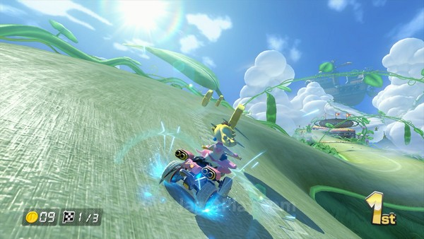 Memanfaatkan performa Wii U yang lebih kuat, Mario Kart 8 hadir dengan kualitas visual yang jauh lebih baik.