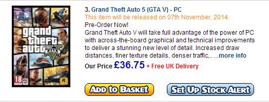 Rumor rilis November untuk GTA V PC menguat setelah situs retailer yang berbeda menuliskan hal yang sama.
