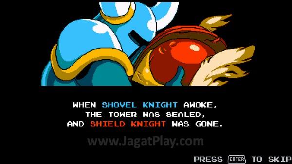 Event di Tower of Fate memisahkan keduanya, membawa Shovel Knight dalam depresi.