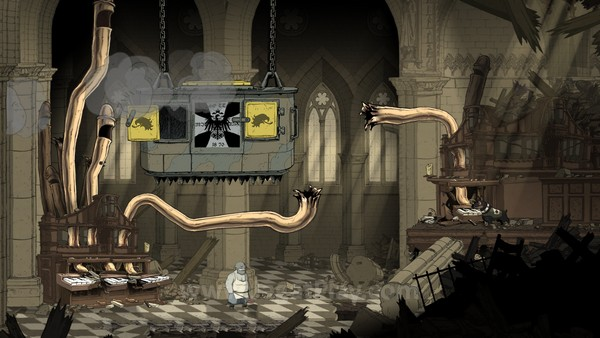 Bertarung melawan Zeppelin dengan menggunakan pipa udara sebuah organ raksasa? Pertempuran dunia nyata mana yang memungkinkan hal ini terjadi.
