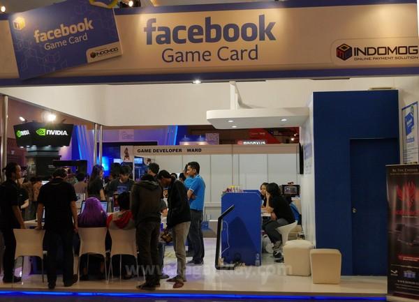 Booth Facebook Gamecard dari Indomog