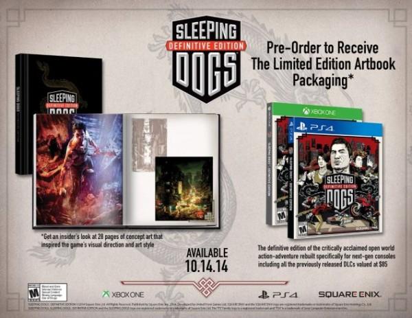 List dari retailer Amazon secara tidak resmi mengkonfirmasikan eksistensi Sleeping Dogs Definitive Edition untuk Playstation 4 dan Xbox One. Seperti halnya Tomb Raider, ia diklaim hadir dengan kualitas visual yang dibangun ulang khusus untuk platform generasi terbaru tersebut.
