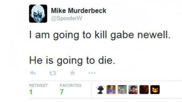 Twitter berisi ancaman yang akhirnya menyulut Valve untuk mengambil tindakan tegas.