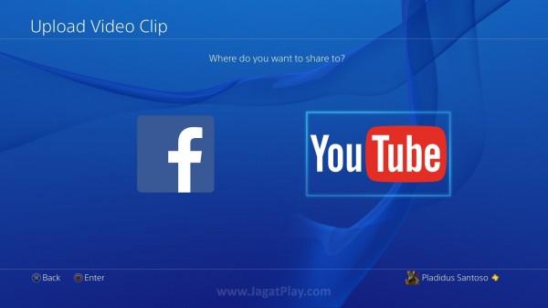 Anda kini juga bisa melakukan upload video gameplay racikan Anda langsung ke Youtube.