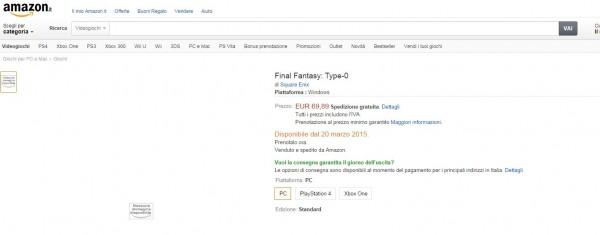 Rumor yang sempat tersebar karena listing Amazon Italia ini dibantah Square Enix. FF Type-0 HD tidak akan hijrah ke PC!