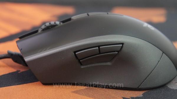 Hadir layaknya sebagian besar mouse gaming saat ini, ada ekstra tiga tombol disematkan di bagian kiri mouse.