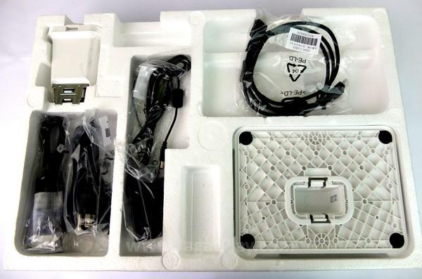 Paket penjualan monitor ini tertata dengan rapi dan setiap onderdilnya diletakkan di kompartemen tersendiri untuk kemudahan penyimpanan.