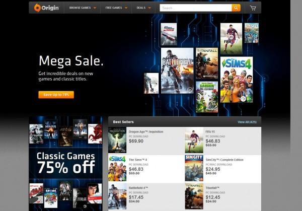 EA juga melakukan diskon besar-besaran game populer mereka via Origin. Tidak hanya game lawas, diskon ini juga berlaku untuk game-game rilis tahun 2014 mereka.