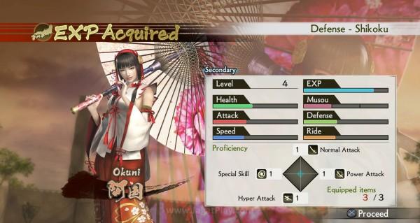 Kenaikan level semakin memperkuat karakter, mulai dari pertahanan, serangan, hingga kemampuan menaiki kuda.