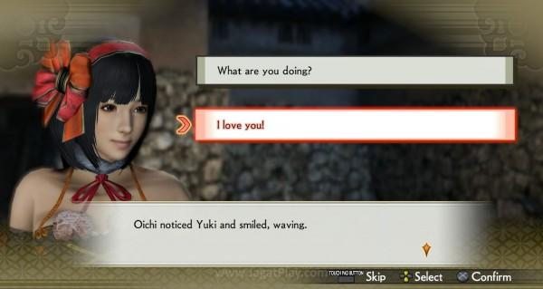 Anda dapat meningkatkan atau menurunkan tingkat pertemanan melalui dialog unik untuk setiap pahlawan Jepang.