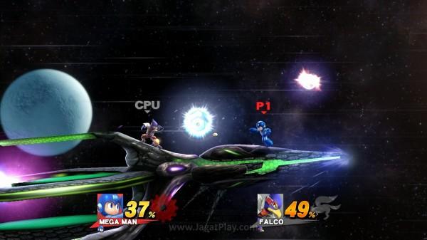 Tidak hanya karakter dan animasi gerakan mereka, desain level yang ada juga diambil dari franchise-franchise ini.