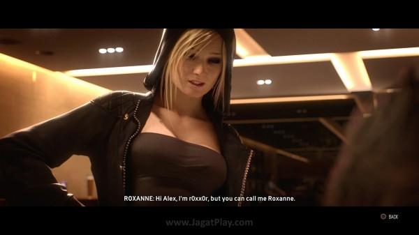 Temukan karakter lain, seperti Roxanne si hacker sexy dengan menyelesaikan cerita demi mendapatkan kemampuannya (Perks).