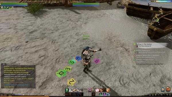 Quest Tracker memperlihatkan arah tujuan Quest berdasarkan warna.