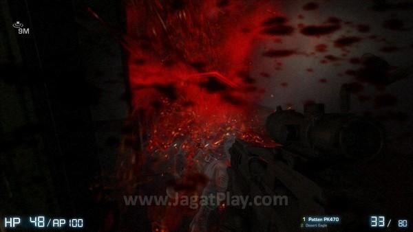 Cipratan darah pada game ini terkesan berlebihan