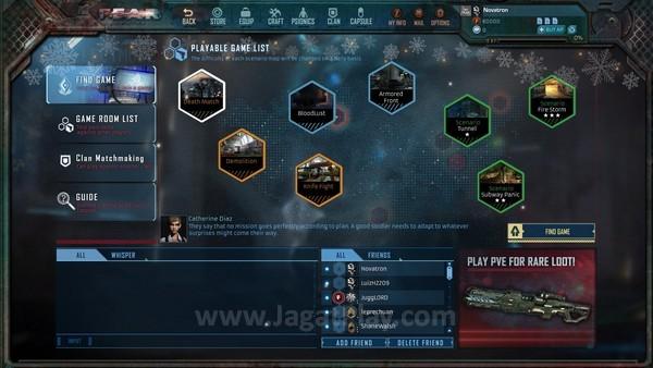 Lobby game memuat beragam feature permainan
