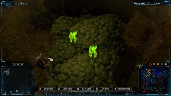 Unit menjadi hidden ketika memasuki hutan dan tidak bisa diserang dari luar. Nice!