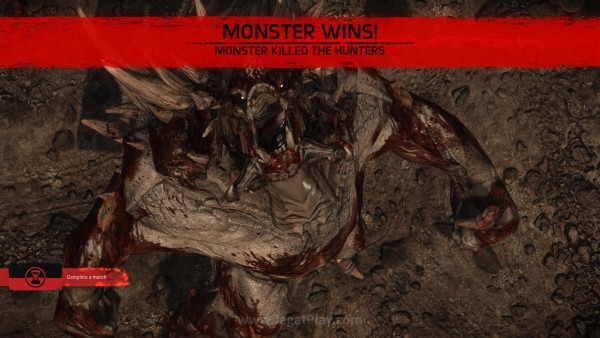 Melawan satu monster yang tampaknya tidak akan punya kesulitan untuk meremukkan tulang para Hunters dengan mudah.
