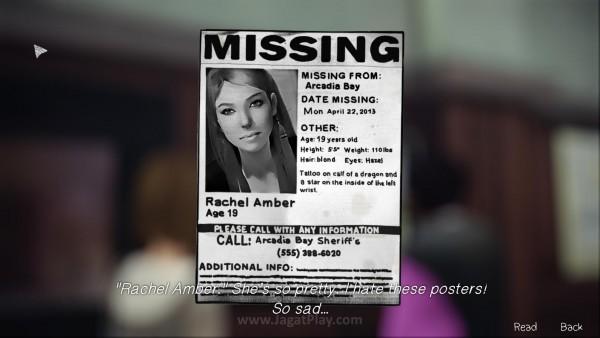 Dua misteri besar menghantui hidup Max. Pertama, hilangnya sang mahasiswi super populer - Rachel Amber yang misterius.