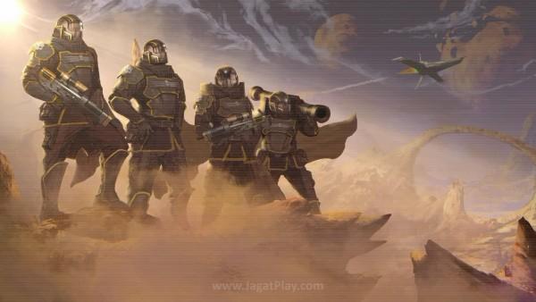 Cerita bukanlah kekuatan utama Helldivers. Klise memang, Anda diposisikan sebagai pasukan khusus untuk memerangi ancaman bumi di garis depan.