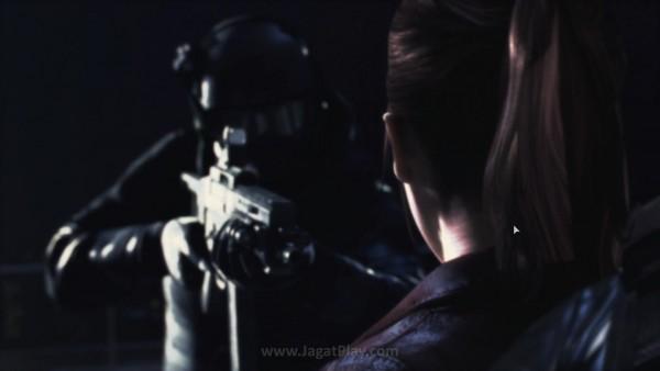 Acara makan malam yang seharusnya berjalan damai berakhir mimpi buruk. Claire Redfield - anggota ujung tombak Terra Save dilumpuhkan dan diculik  bersama dengan Moira.