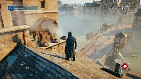 Melompati atap rumah di Prancis begitu indah berkat bantuan Hercules