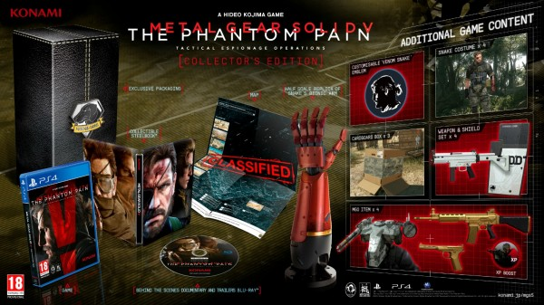 MGS V: The Phantom Pain versi PS 4 juga hadir dengan Collector's Edition dengan segudang collectibles menggoda.