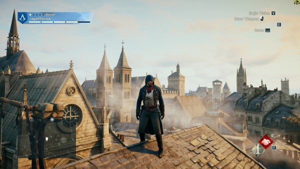 Keindahan kota terlihat jelas dari atas