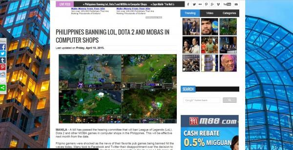 Sang biang keladi yang kemudian dijadikan sebagai berita utama oleh salah satu situs gaming di Indonesia.