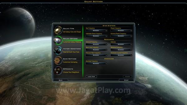 Sebelum memulai permainan, Anda dapat menentukan beragam setting permainan