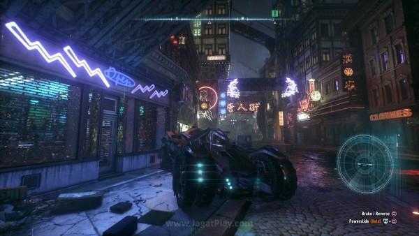 Kota ini dibangun Rocksteady dengan detail yang fantastis, termasuk efek cahaya yang ada.