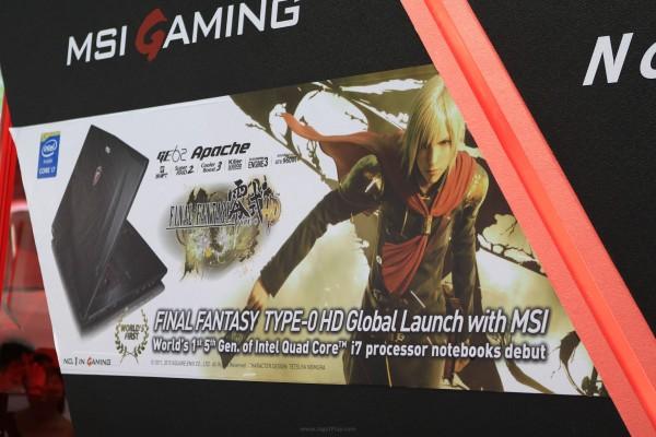 Bekerjasama dengan MSI, Square Enix menjadikan ajang Computex 2015 untuk memperkenalkan FF Type 0 HD versi PC kepada dunia.