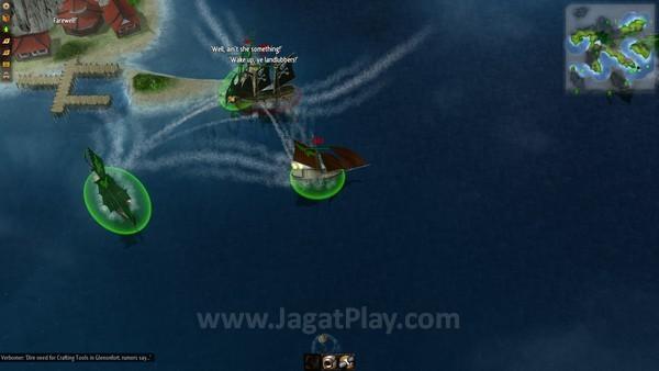 Kapal menyerang otomatis bila arah serangannya benar, yaitu dari samping