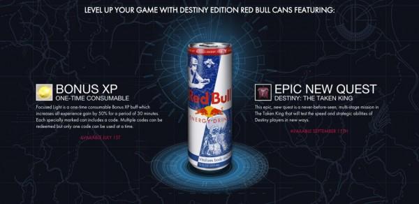 Destiny bekerja sama dengan Red Bull dengan konten
